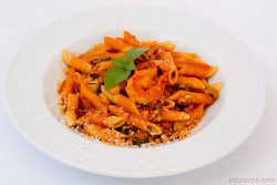 Penne With Seafood And Tomato Cream Sauce